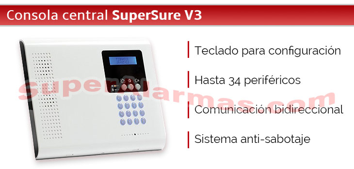Consola central con comunicación bidireccional SuperSure V3